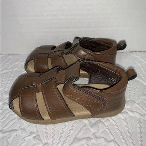 H&M brown infant sandals sz 2.5-3.5.